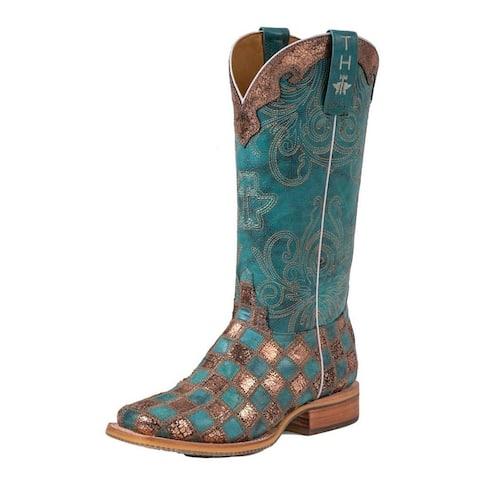 Tin Haul Western Boots Womens No Probl-Lama