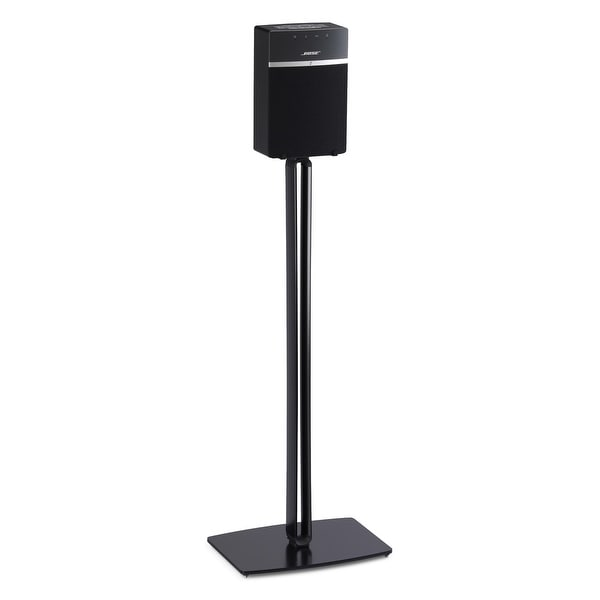 Pair Silver Size Small SoundXtra Universal Desktop Speaker Stand