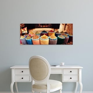 Easy Art Prints Panoramic Images's 'Spice market inside the medina in Marrakesh, Morocco' Premium Canvas Art