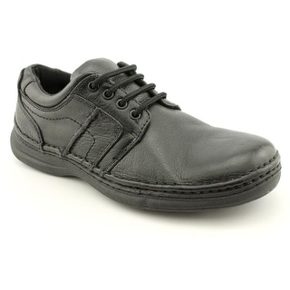 Nunn Bush Vince Men Round Toe Leather Black Work Shoe