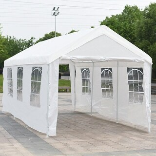 Gymax 10' x 20' Heavy Duty Party Wedding Tent Car Carport Canopy Garage Cover Shelter
