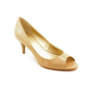 Tahari Marie Open-Toe Patent Leather Heels