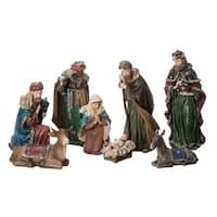8-Piece Traditional Christmas Nativity Set with Jewels 7""