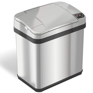 iTouchless Stainless Steel 2.5-gallon Multi-function Sensor Garbage Can with Odor Filter and Fragrance