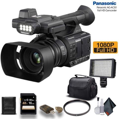Panasonic AG-AC30 Full HD Camcorder (AG-AC30PJ) With Bundle