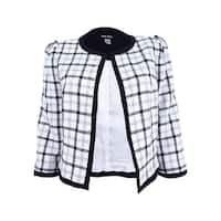 Nine West Women's Plaid Blazer