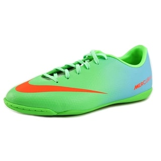 Nike Jr Mercurial Victory IV IC Youth Round Toe Synthetic Green Cleats