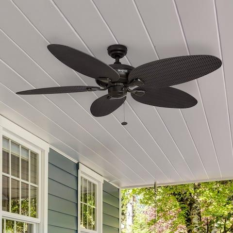 Honeywell Duval Bronze Indoor/ Outdoor Ceiling Fan with Wicker Blades