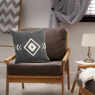 Link to Tufted White Geometric Diamond Throw Pillow  Similar Items in Decorative Accessories