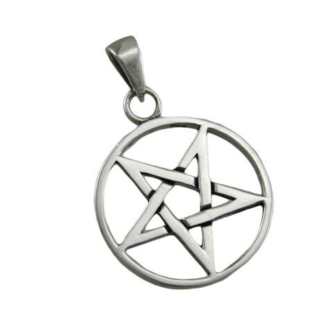 Sterling Silver Inverted Pentagram Pendant Pentacle
