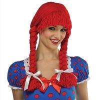 Braided Rag Doll Wig Adult Costume Accessory