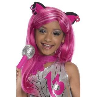 Rubies Catty Noir Child Wig - Pink