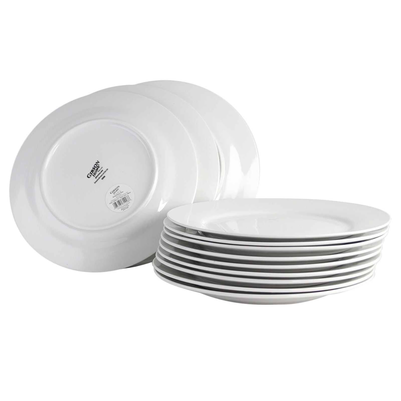Shop For Gibson Home Noble Court 12 Piece Dinner Plate Set In White Get Free Delivery On Everything At Overstock Your Online Kitchen Dining Outlet Store Get 5 In Rewards With Club O 31994855