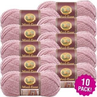 Lion Brand Wool-Ease Yarn 10/Pk-Rose Heather - Pink