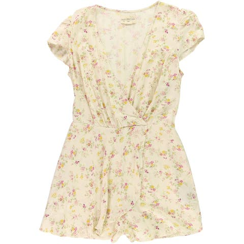 Ralph Lauren Womens Floral Romper Jumpsuit, off-white, Small