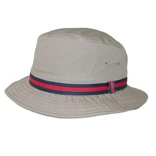 Dorfman Pacific Cotton Water Repellent Traditional Rain Bucket Hat