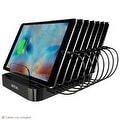Skiva StandCharger (7-Port / 84W / 16.8A) Desktop USB Fast Charging Station Dock with SmartIC for iPhone, iPad, Samsung Galaxy - Thumbnail 0