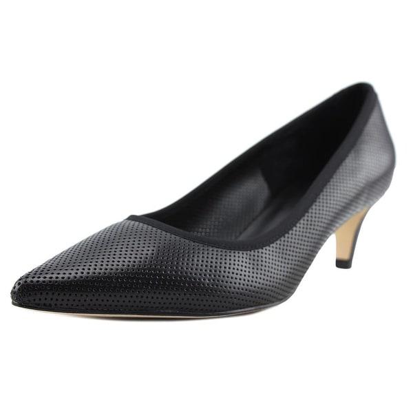 Vaneli Tomaso Women Pointed Toe Leather Black Heels