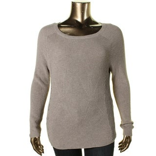 Nic + Zoe Womens Textured Knit Pullover Sweater
