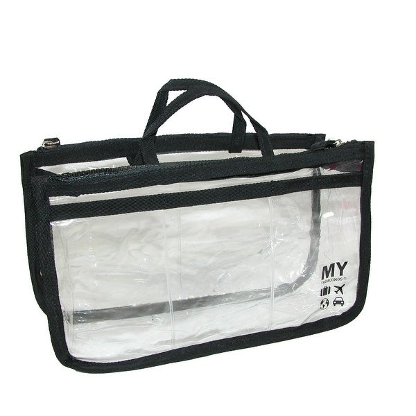 MY TAGALONGS Women's Clear Multi Pocket Handbag Organizer - One size
