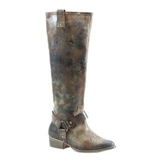 Diba True Women's Flower Child Mid Calf Boot Chocolate Leather