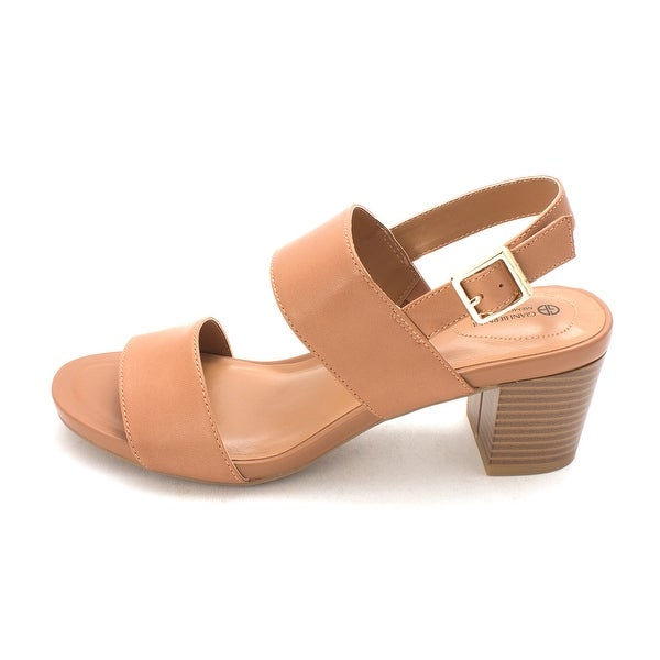 Giani Bernini Womens Maggiee Leather Open Toe Casual Slingback Sandals