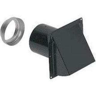 "Broan 8885BL Wall Cap, Steel, Black, 3"" And 4"" Round Duct"