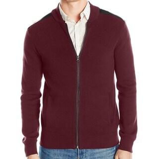 Kenneth Cole Reaction NEW Red Men Medium M Full-Zip Bomber Sweater