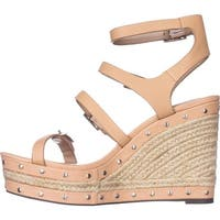 Charles David Womens Larissa Leather Open Toe Casual Espadrille Sandals