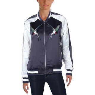 Bagatelle Womens Bomber Jacket Embroidered Outerwear