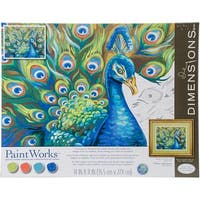"Paint Works Paint By Number Kit 14""X11""-Wild Feathers"