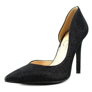 Jessica Simpson Claudette Women Pointed Toe Synthetic Black Heels