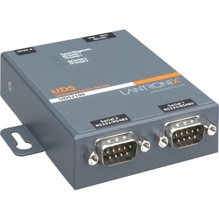 Lantronix UD2100001-01 Lantronix 2 Port Serial (RS232/ RS422/ RS485) to IP Ethernet Device Server - US Domestic 110 VAC -