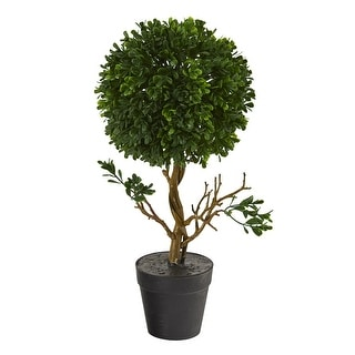"""Link to 15"""" Boxwood Topiary Artificial Tree UV Resistant (Indoor/Outdoor) Similar Items in Decorative Accessories"""