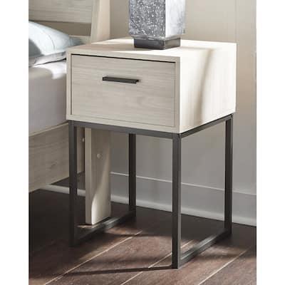 Socalle Natural Modern 1-Drawer Nightstand