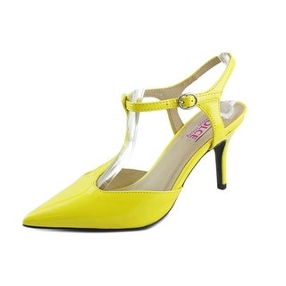 Dolce by Mojo Moxy Constance Women Open Toe Synthetic Yellow Sandals