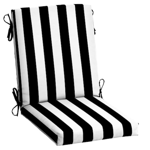 Arden Selections Outdoor Cabana Stripe 44 x 20 in. High Back Dining Chair Cushion