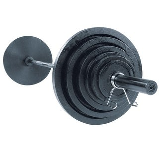 Body-Solid Cast Oly Sets with Black Bar