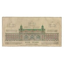 ''Ellis Island'' by Roger Vilar Architecture Art Print (14.125 x 26.25 in.)