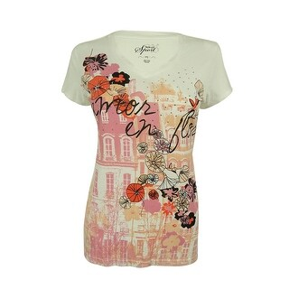Style & Co. Women's Floral Print Embellished Top