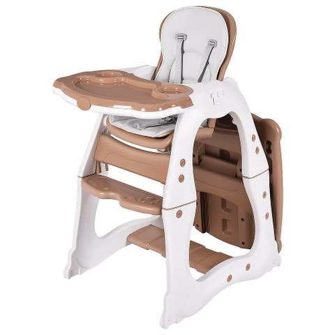 Costway 3 in 1 Baby High Chair Convertible Play Table Seat Booster