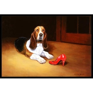 Carolines Treasures BDBA0372MAT Basset & Shoe Indoor or Outdoor Mat 18 x 27