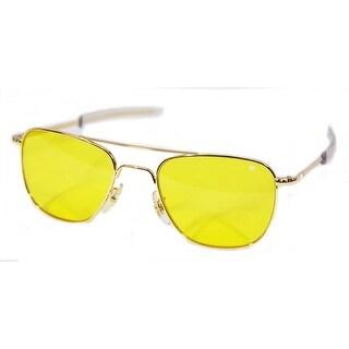American Optical Original Pilot Bayonet 52 Gold Yellow Poly Sunglasses 32281
