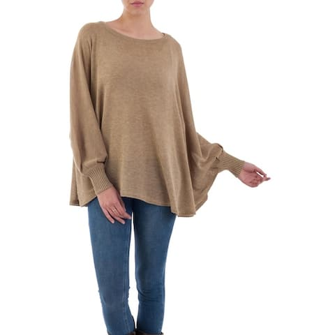 Handmade Cotton Blend Coastal Breeze Sweater (Peru)