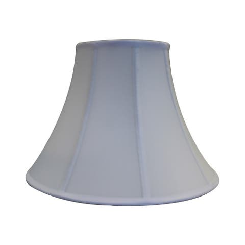 Round Bell Soft Back with Piping Lamp Shade 6x17x12 White Poly Dolan Designs