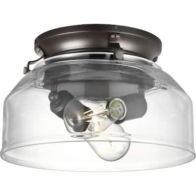 Springer Collection Architectural Bronze Clear Glass Light Kit - 11.8753 in x 11.8753 in x 7.5 in