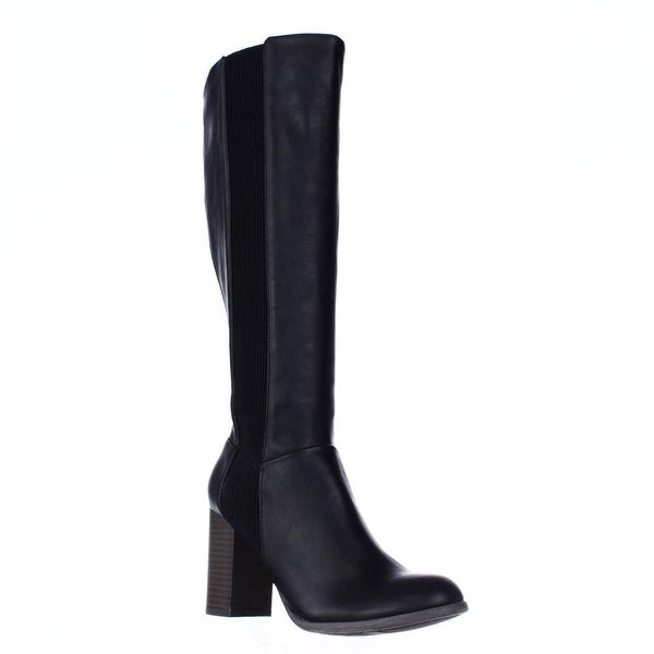 Fergalicious Righteous Knee High Block Heel Boots, Black