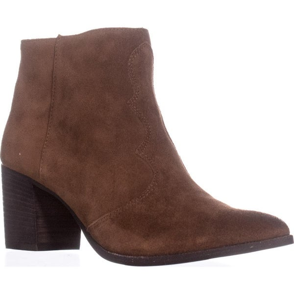 Dolce Vita Lennon Pointed Toe Block Heel Boots, Acorn - 8.5 us
