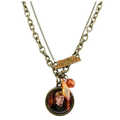 """The Hunger Games Movie Necklace Double Chain """"Peeta Mellark"""""""