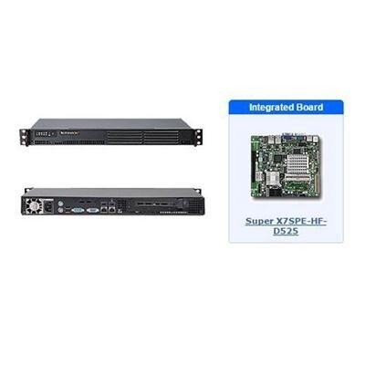 Supermicro Superserver Atom D525 1U Rackmount Server Barebone System, Black Sys-5015A-Ehf-D525